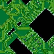 Free Green Circuit Board Illustration. Stock Photos - 14015573