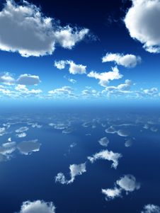 Free Reflected Sky Stock Photography - 14016662