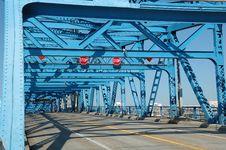 Free Blue Steel Bridge Stock Image - 14016811