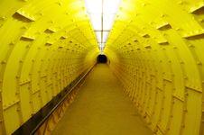 Free Futuristic Yellow Tunnel Royalty Free Stock Photos - 14016828
