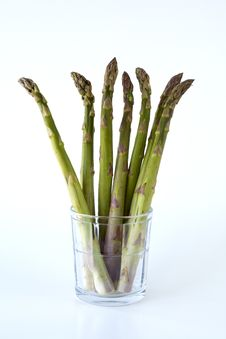 Free Asparagus In A Glass. Stock Image - 14017041