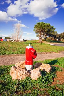 Free Red Fire Hydrant Between The Stones Royalty Free Stock Photo - 14017085