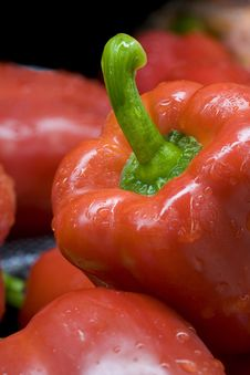 Free Close Up Of A Red Bell Pepper. Royalty Free Stock Photography - 14017137