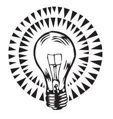 Glowing Light Bulb Illustration Stock Images