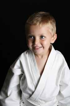 Karate Boy Royalty Free Stock Photo