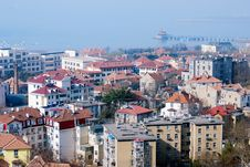 Aerial View Of Old City In Qingdao Royalty Free Stock Photography