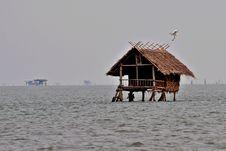 Hut In The Sea Stock Image