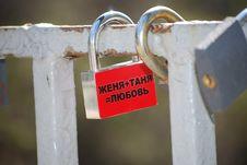 Free Love Padlocks Royalty Free Stock Images - 14019269