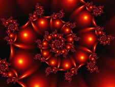 Free 3d Figure Made In The Form Of An Abstract Fractal Spiral With Balls And Ornaments Stock Image - 140144111