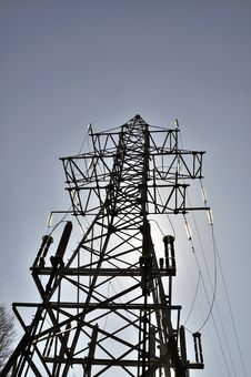 Free Column Of A Transmission Line Stock Photos - 14020083