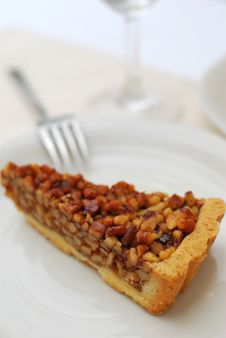 Free Slice Of Hazel Nut Tart Royalty Free Stock Photo - 14020335