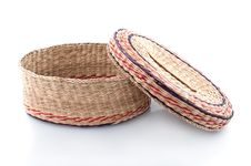 Free Nice Wicker Wooden  Basket Stock Photography - 14021002