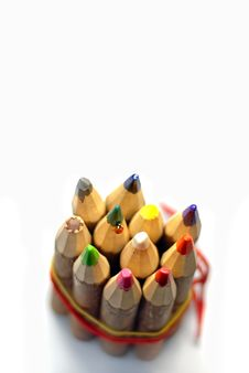 Free Ladybug On Color Pencils Royalty Free Stock Images - 14021119