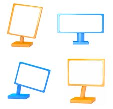 Set Of Blank Signs Stock Images