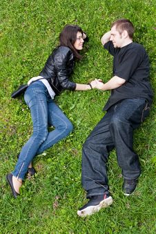 Free Couple On A Grass 1 Royalty Free Stock Photography - 14021307