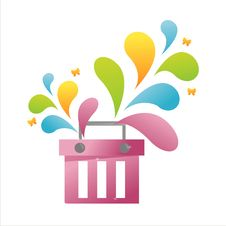 Free Colorful Basket Royalty Free Stock Photos - 14021388