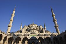 Free Panorama Of Blue Mosque In Istanbul Stock Image - 14021801