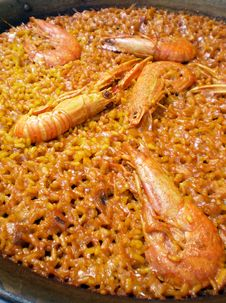 Free Macro Of An Authentic  Shellfish Paella Stock Photo - 14022520