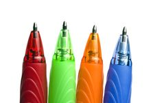 Free Colourful Pens Stock Image - 14022701