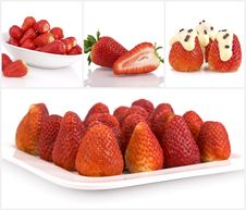 Free Collage Of Strawberries Royalty Free Stock Image - 14023196