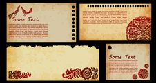 Set Of Old Paper Collection Royalty Free Stock Image