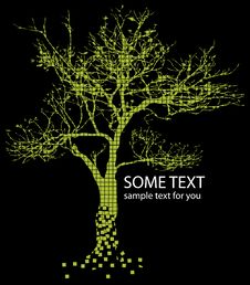 Free Green Tree And Text Stock Photos - 14023433