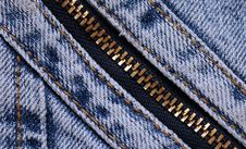 Free Blue Jeans Background With Zipper Royalty Free Stock Photos - 14024598