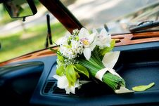 Free Bridal Bouquet On Wedding Day Stock Photography - 14024722