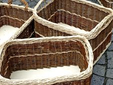 Free Wicker Baskets Royalty Free Stock Image - 14025156
