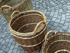 Free Wicker Baskets Royalty Free Stock Images - 14025199