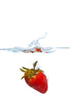 Free Strawberry Splash Stock Photo - 14025240