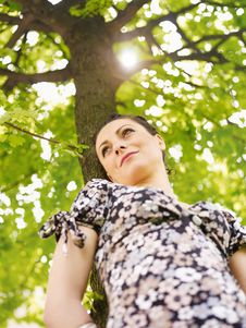 Free Young Woman In Park, Smiling Royalty Free Stock Photo - 14025835