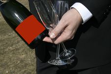 Free Champagne And Glasses Royalty Free Stock Photo - 14026565