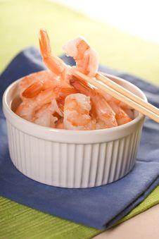 Free Fresh Shrimps. Royalty Free Stock Photo - 14027185