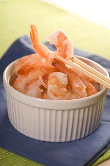 Free Fresh Shrimps. Royalty Free Stock Image - 14027206