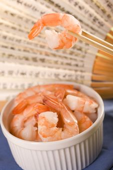 Free Fresh Shrimps. Royalty Free Stock Image - 14027216