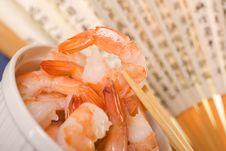Free Fresh Shrimps. Royalty Free Stock Photography - 14027267