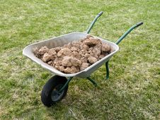 Free Wheelbarrows To The Ground Royalty Free Stock Image - 14027456