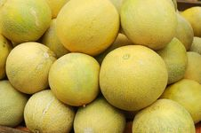 Free Close Up Of Melons On Market Stand Stock Photos - 14027733