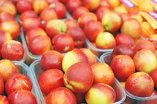 Free Close Up Of Nectarines On Market Stand Stock Photography - 14027742