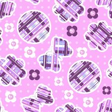 Seamless Pattern With Butterflies And Flowers Royalty Free Stock Photography