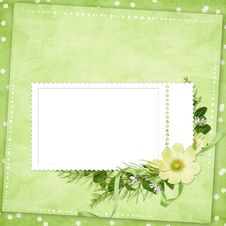 Free Card For The Holiday  With Flowers Stock Photography - 14028492
