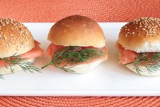Free Smoked Salmon Buns Stock Photos - 14028763