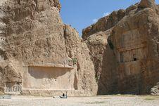 Free Grave Of King Daeiros Near Persepolis Stock Photo - 14029640