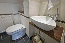 Stunning Modern Bathroom Stock Image