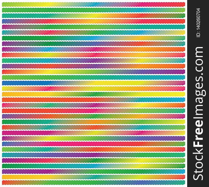 Abstract Gradient Colors Flat Stripe Lines Background Pattern Texture