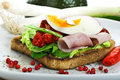 Free Toast With Egg And Ham Stock Photography - 14036152