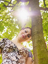 Free Young Woman In Park, Smiling Royalty Free Stock Photography - 14039717