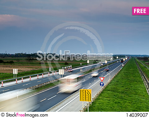 Free Highway Royalty Free Stock Photography - 14039007