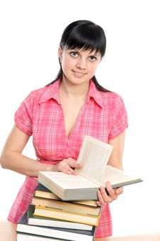 Free Young Girl With Book Stock Images - 14030184